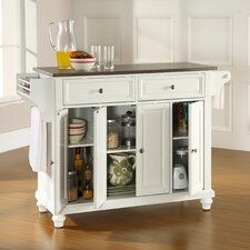 Cambridge Kitchen Island with Stainless Steel Top