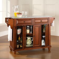 Cambridge Kitchen Island with Granite Top