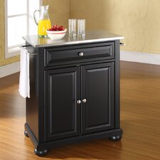 <strong>Crosley</strong> Alexandria Kitchen Island with Stainless Steel Top