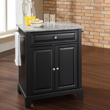<strong>Crosley</strong> Newport Kitchen Island with Granite Top