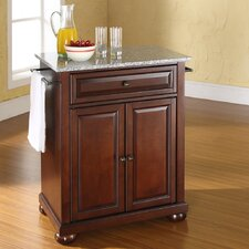 <strong>Crosley</strong> Alexandria Kitchen Island with Granite Top