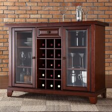 Newport Sliding Top Bar Cabinet in Vintage Mahogany
