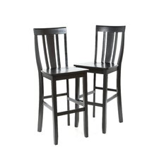 "Shield Back 30"" Barstool in Black"