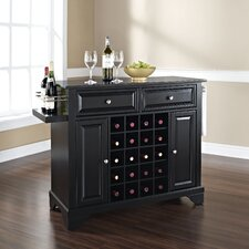 Lafayette Kitchen Island with Black Granite Top