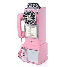 <strong>Crosley</strong> 1950's Classic Pay Phone Pink
