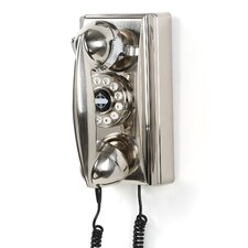 302 Classic Brushed Chrome Wall Phone