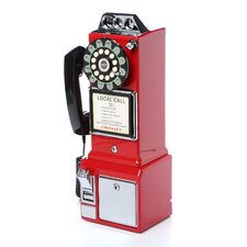 <strong>Crosley</strong> 1950's Classic Red Pay Phone