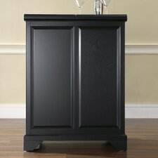 <strong>Crosley</strong> LaFayette Expandable Bar Cabinet in Black