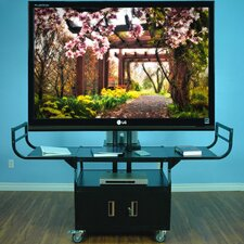 "Large Flat Panel Cabinet Cart for 80"" Monitor"