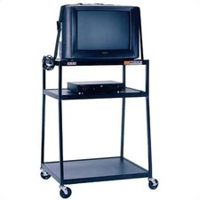 "48"" High, 2-Shelf Wide Body TV Cart"