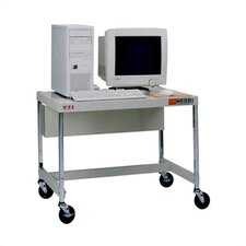 "27"" High Mobile Computer Workstation without Monitor Shelf"