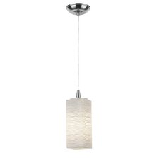 Isobar Glass Pendant Shade in Satin Nickel with Holder Options