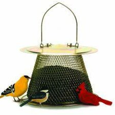 No / No Original Caged Bird Feeder with Extended Roof