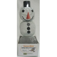 No / No Snowman Feeder in White