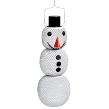 Snowman Wild Bird Feeder in White