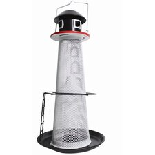 No/No Solar Lighthouse Finch Decorative Caged Bird Feeder