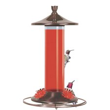 Brushed Metal Hummingbird Feeder