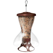 Shelter Squirrel Proof Hopper Bird Feeder