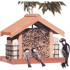 Deluxe Chalet Suet Hopper Bird Feeder