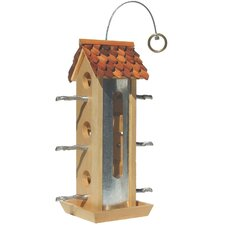 Tin Jay Hopper Bird Feeder