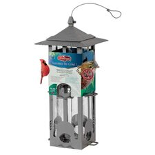 Squirrel Be Gone Feeder in Nickel