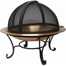 Copper Fire Pit Set with Easy Access Screen