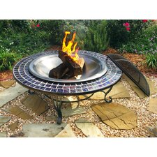 <strong>Corral</strong> Glass Mosaic Fire Pit Table