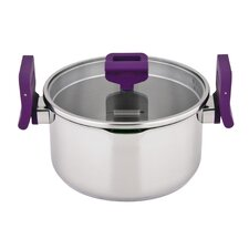 Lift and Pour Stainless Steel Casserole with Lid