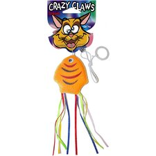 Crazy Claws Fish Soft Cat Toy with Ribbons