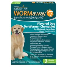 Wormaway Flavored Dog De Wormer Chewables