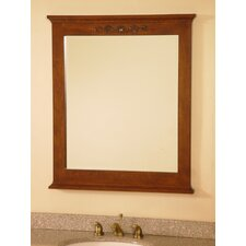 "<strong>Lanza</strong> 30"" Bathroom Vanity Mirror in Royal Brown"