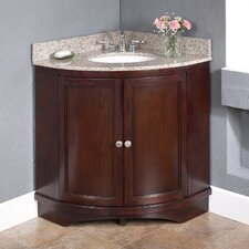 "Corner 38"" Vanity Set with Backsplashes"