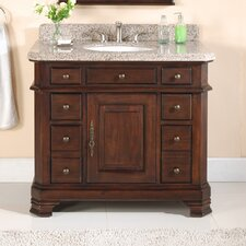 "<strong>Lanza</strong> Perkin 42"" Vanity Set with Backsplash & Matching Mirror"