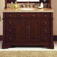 "Bradford 48.5"" Vanity Set with Mirror Hutch"