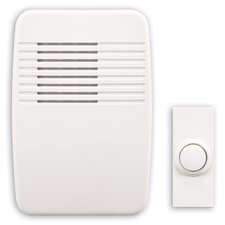 Wireless Plug-In Doorbell Kit with White Molded Cover