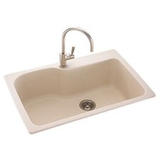 "Metropolitan 33"" x 22"" Large Single Bowl Kitchen Sink"