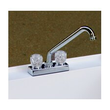 Deck Mounted Laundry Faucet with Double Knobs Handle