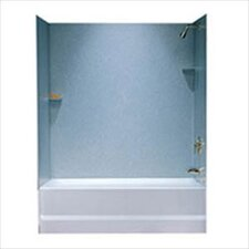 Metropolitan Three Panel Bath Tub Wall System and Installation Kit