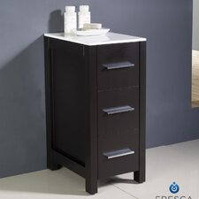 "Torino 12"" x 31.1"" Bathroom Linen Side Cabinet"