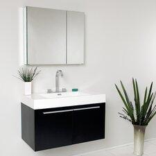 "Senza 36"" Single Vista Modern Bathroom Vanity Set"