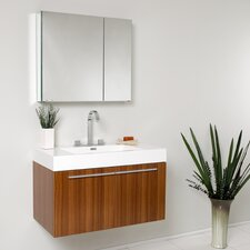 "Senza 36"" Single Vista Modern Bathroom Vanity Set"