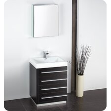 "Senza 24"" Livello Modern Bathroom Vanity Set with Medicine Cabinet"