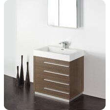 "<strong>Fresca</strong> Senza 30"" Livello Modern Bathroom Vanity Set with Medicine Cabinet"
