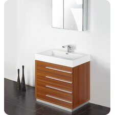 "Senza 30"" Livello Modern Bathroom Vanity Set with Medicine Cabinet"