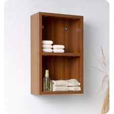 Bathroom Linen Side Cabinet with 2 Open Storage Areas