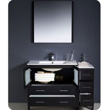 "<strong>Fresca</strong> Torino 48"" Modern Bathroom Vanity Set with Side Cabinet and Undermount Sinks"