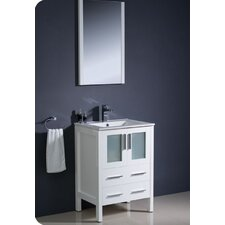 "Torino 24"" Modern Bathroom Vanity Set with Single Sink"
