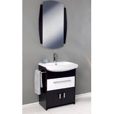 "Nero 26"" Single Distinto Modern Bathroom Vanity Set with Mirror"