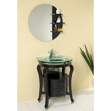 "<strong>Fresca</strong> Classico 25.5"" Simpatico Modern Bathroom Vanity Set with Mirror and Shelves"