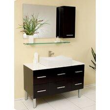 "Stella 43"" Single Distante Modern Bathroom Vanity Set with Mirror"